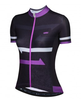 Women's Cycling Jersey HORIZON Black Violet