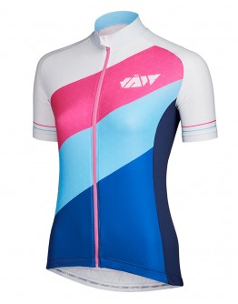Women's Cycling Jersey DIAGONAL Modern White