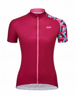 Women's Cycling Jersey JOUER VELO Burgundy