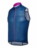 Wind/Water Resistant Cycling Vest JOUER VELO Navy Blue Unisex