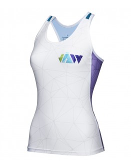 Women's Tri Singlet CRYSTAL White Blue