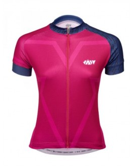 Women's  Cycling Jersey BIG V Magenta